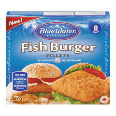 BlueWater Fish Burger Fillets (519g)  - Urbery