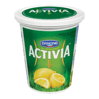 Danone Activia Probiotic Yogurt, Lemon (650g)  - Urbery
