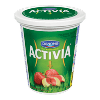 Danone Activia Probiotic Yogurt, Strawberry-Rhubarb (650g)  - Urbery