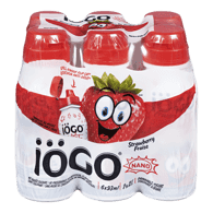 IOGO Nano Drinkable Yogurt, Strawberry (6x93mL)  - Urbery
