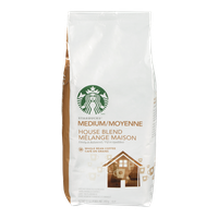 Starbucks Medium Roast House Blend, Whole Bean (340g)  - Urbery