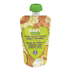 Baby Gourmet Baby Food 8 Months+, Fruity Carrot & Greek Yogurt Smoothie (128mL)  - Urbery