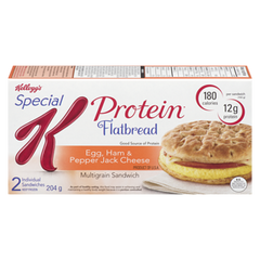 Kellogg's Flatbread Morning Sandwich, Egg with Ham & Pepper Jack Cheese (204g)  - Urbery