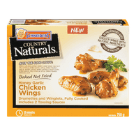 Schneiders Country Naturals Chicken Wings, Honey Garlic (750g)  - Urbery