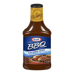 Kraft BBQ Sauce, Light (455mL)  - Urbery