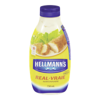 Hellmann's Real Mayonnaise, Easy Squeeze(750mL)  - Urbery