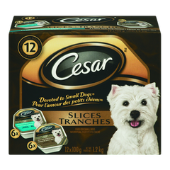 Cesar Dog Food Slices, Variety Pack (12x100g)