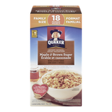 Quaker Instant Oatmeal, Maple & Brown Sugar Family Size (774g)