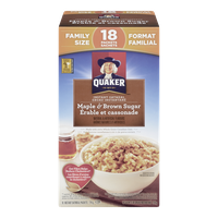 Quaker Instant Oatmeal, Maple & Brown Sugar Family Size (774g)  - Urbery