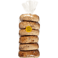 Bagels, Whole Grain Package of 6 (6x108g)  - Urbery