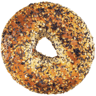 Bagels, Everything Package of 6 (6x108g)  - Urbery