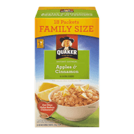 Quaker Instant Oatmeal, Apples & Cinnamon Family Size (594g)  - Urbery
