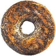 Bagels, Poppy Seed Package of 6 (6x108g)  - Urbery