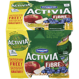 Danone Activia Probiotic Yogurt, Apple Muesli/Blueberry-Cereal (8x100g)