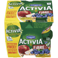 Danone Activia Probiotic Yogurt, Apple Muesli/Blueberry-Cereal (8x100g)  - Urbery