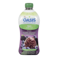 Oasis Nutrisource Antioxia 100% Juice, Wild Berry & Pomegranate (1L)  - Urbery