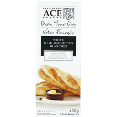 ACE Bakery Bake Your Own White Demi-Baguettes (400g)  - Urbery