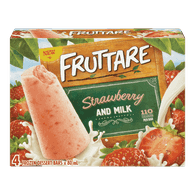 Fruttare Ice Cream Popsicle Strawberry & Milk (4X80ML)