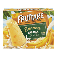 Fruttare Ice Cream Popsicle Banana & Milk (4X80ML)