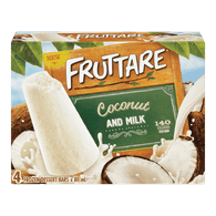Fruttare Ice Cream Popsicle Coconut & Milk (4X80ML)