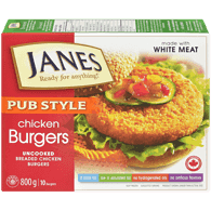 Janes Pub Style Chicken Burgers (800g)  - Urbery