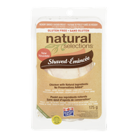 Maple Leaf Natural Selections Smoked Chicken, Shaved (175g)  - Urbery