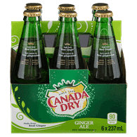 Canada Dry Ginger Ale (6x237mL)  - Urbery