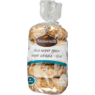 Stonemill Bakehouse  Bagels, Chia Supergrain (5x70g)  - Urbery