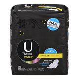 U by Kotex Extra Maxi Pads, With Wings (18 ea)