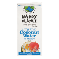 Happy Planet Organic Coconut & Mango Water (946mL)  - Urbery