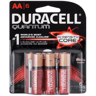 Duracell Quantum Alkaline Batteries, AA (6ea)  - Urbery