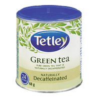 Tetley Green Tea, Naturally Decaffeinated (24ea)  - Urbery