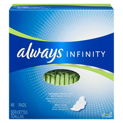 Always Maxi Pad Infinity Super With Wings (46ea)  - Urbery