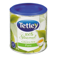 Tetley 100% Steamed Green Tea, Pure (24ea)  - Urbery