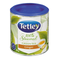 Tetley 100% Steamed Green Tea, Ginger (24ea)  - Urbery