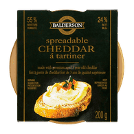 Balderson Spreadable Cheddar Cheese (200g)  - Urbery