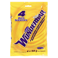 Cadbury Wunderbar, Package of 4 (4x58g)  - Urbery
