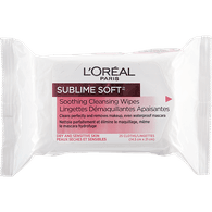 L'Oreal Sublime Soft Sublime Cleansing Wipes (1ea)  - Urbery