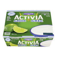 Danone Activia Probiotic Greek Yogurt, Lime 0% (4x100g)  - Urbery