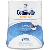 Cottonelle FreshCare Flushable Cleansing Cloths Tall Dispenser (42 ea)  - Urbery