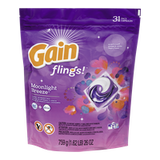Gain Flings Laundry Detergent, Moonlight Breeze 31 Count (31ea)