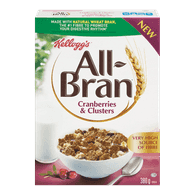 Kellogg's All-Bran All-Bran, Cranberry Clusters (380g)  - Urbery
