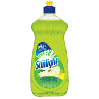 Sunlight Dishwashing Detergent Antibacterial, Green Apple (740mL)  - Urbery