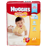 Huggies Little Snugglers, Jumbo Pack Size 3 Diapers (27 ea)