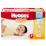 Huggies Little Snugglers, Super Pack Size 2 Diapers (92 ea)