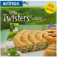 Krinos Fillo Twisters, Spinach & Feta Cheese (1kg)