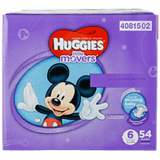 Huggies Little Movers, Super Pack Size 6 Diapers (54 ea)