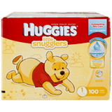 Huggies Little Snugglers, Super Pack Size 1 Diapers (100 ea)