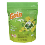 Gain Flings Laundry Detergent, Original (31ea)