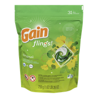 Gain Flings Laundry Detergent, Original (31ea)  - Urbery